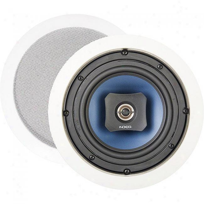 Nxg Basix Series 2-way In-ceiling Speaker System - 60-watt, 6.5 Inch