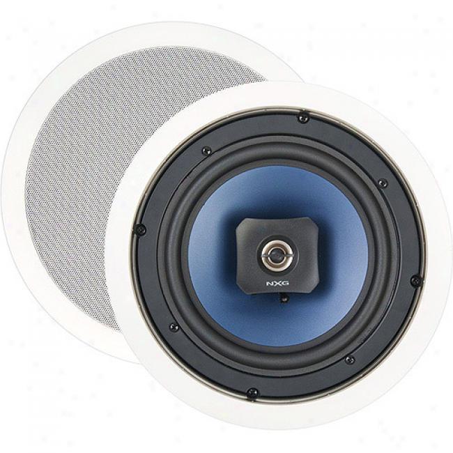Nxg Basix Series 2-way In-ceilibg Speaker System - 80-watt, 8 Inch