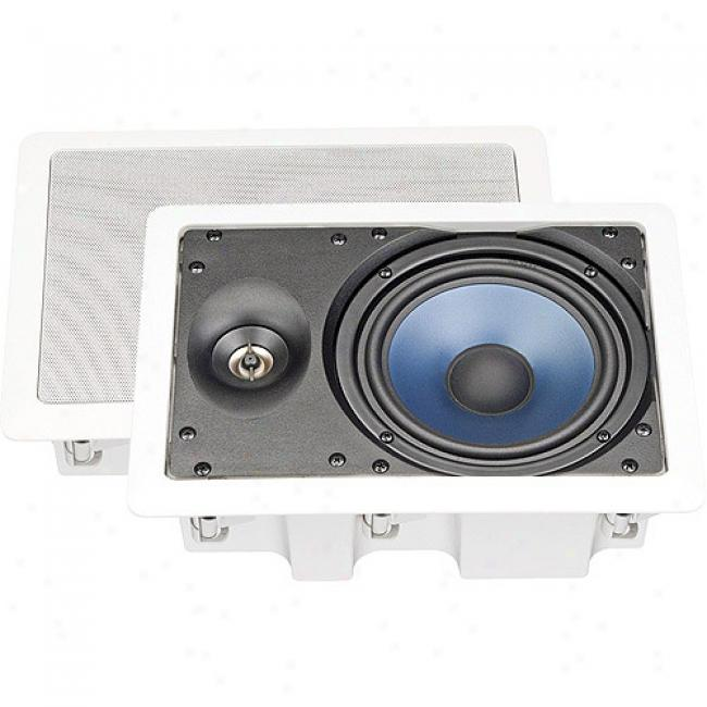 Nxg Basxx Series 2-way In-wall Enclosed Speaker System -80-watt, 6.5 Inch
