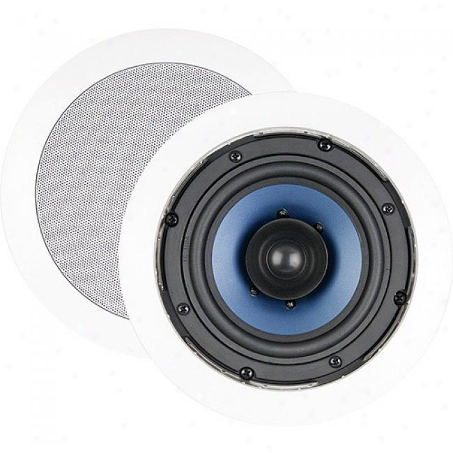 Nxg Basix Series Dual-cone In-ceiling Duall Voice Coil Single Point Stereo Speaker System - 50-watt, 5.25