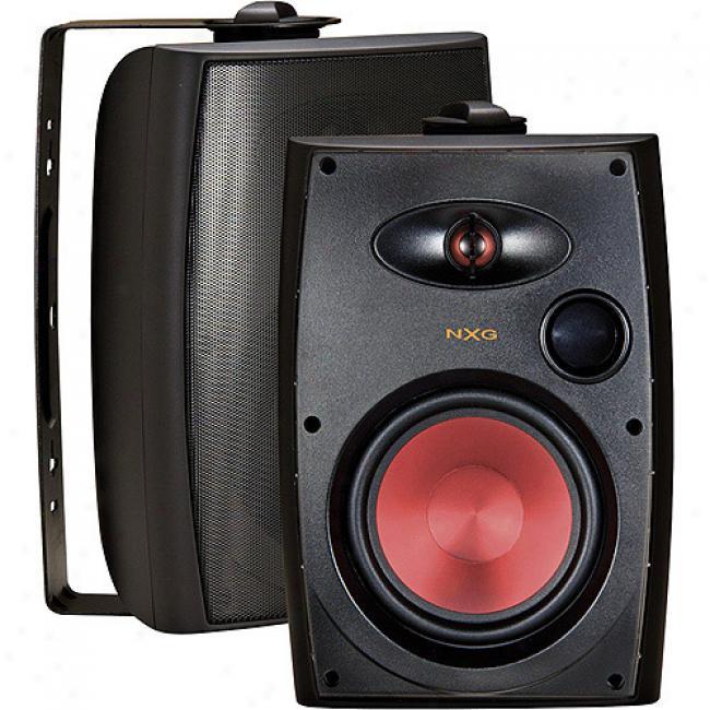 Nxg Pro Series 2-way Indoor/outdoor Weather Resistant Speaker Systej - 100-watt,_5.25-inch - Black