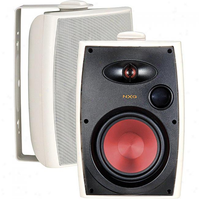 Nxg Pro Series 2-way Indoor/o8tdopr Weather Resistant Speaker System - 125-watt, 6.5-inch - White