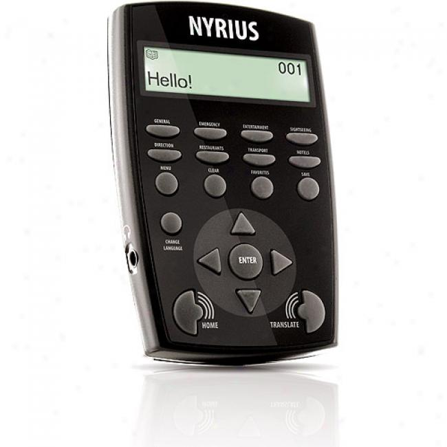 Nyrius Entourage7 Nyrius Global Talking Travel Translator For 7 International Languages