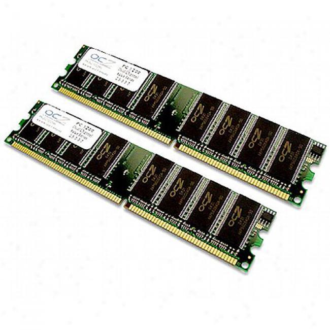 Ocz 2gb Kit (2x1gb) Ddr Pc-3200 400mhz Dual-channel Value Series Desktop Memory