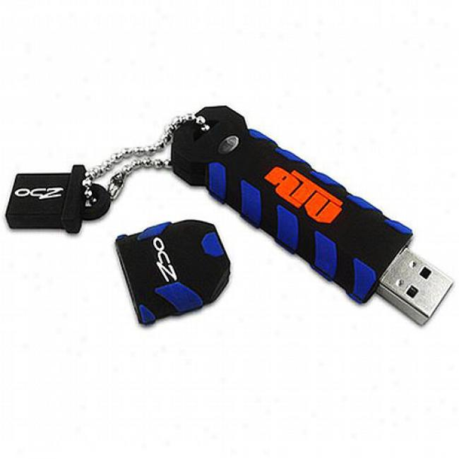 Ocz 32gb Atv Waterproof Usb Flash Drive, Black & Blue