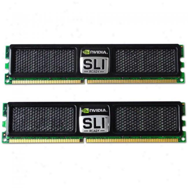 Ocz Pc2-6400 Ddr2 Nvidia 800mhz Dual Channel 2g Kit With Nvidia Heatspreader