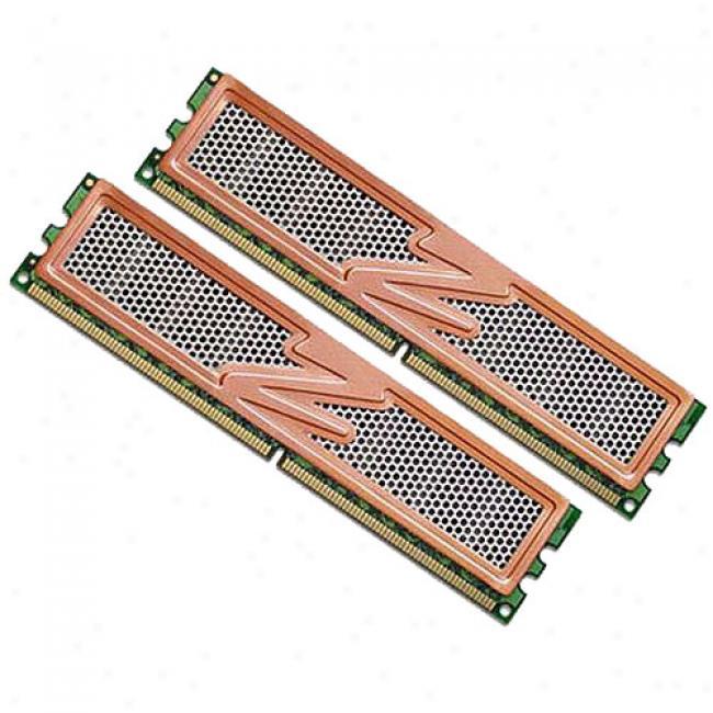 Ocz Pc2-6400 Ddr2 Vista Upgrade 800mhz Dual Channel 2g Kit With Heatspreader