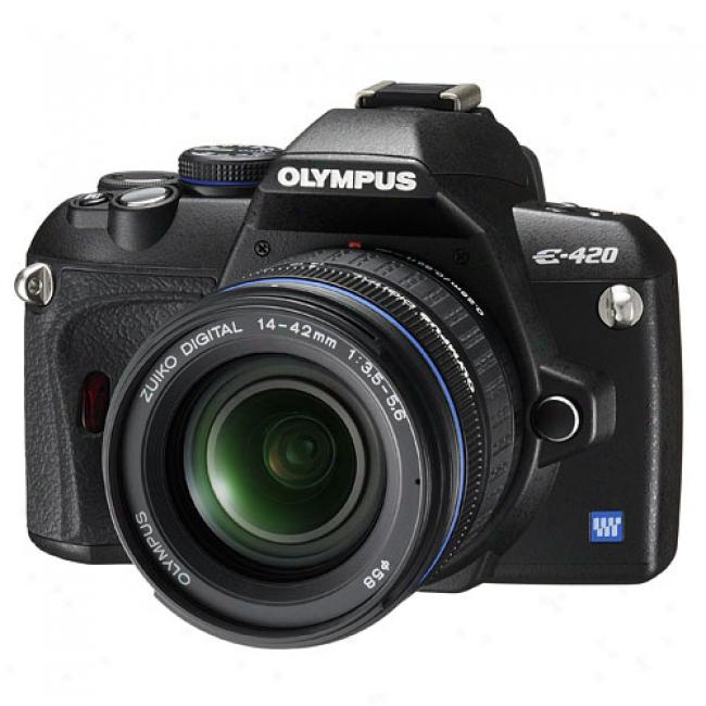 Olympus Evolt E-420 10 Mp Digital Slr Camera Kit W/ 14-42mm Zoom Lens