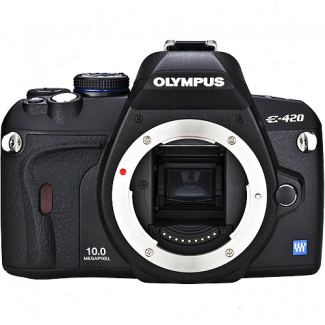Olympus Evolt E-420 Black 10mp Digital Slr Camwra, Body Only