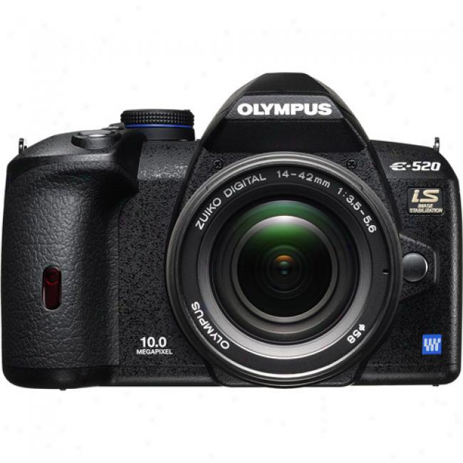 Olympus Evolt E-520 10mp Digital Slr Camera Kit W/ 14-42mm Zoom Lens