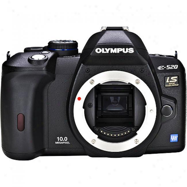 Olympus Evolt E-520 Black 10mp Digital Slr Camera, Body Only