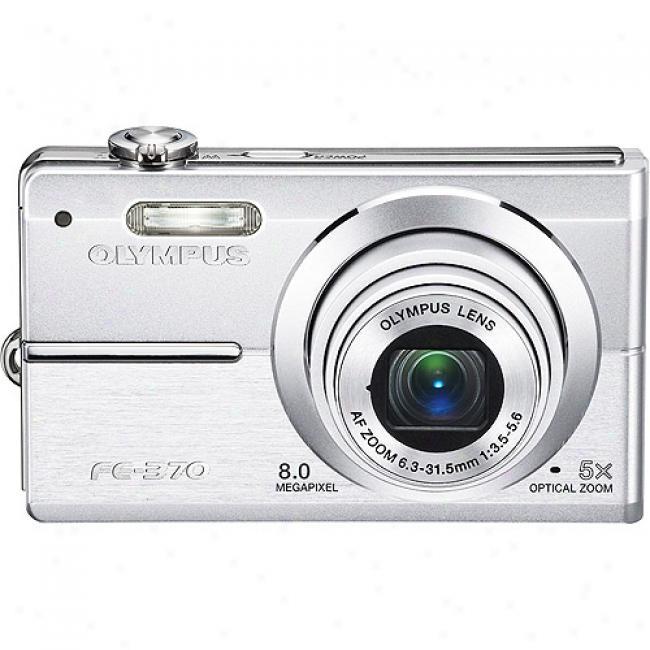 Olympus Fe-370 Silve r8mp Digital Camera, 5x Optical Zoom, 2.7