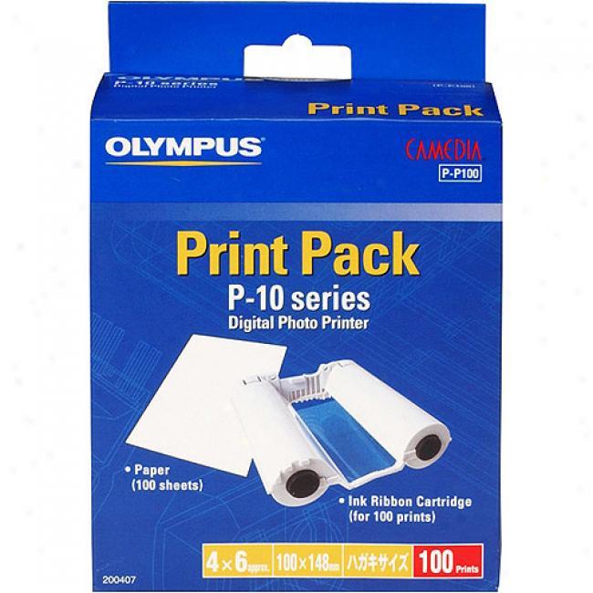 Olympus Paper For P-10 Printer - 100 (4