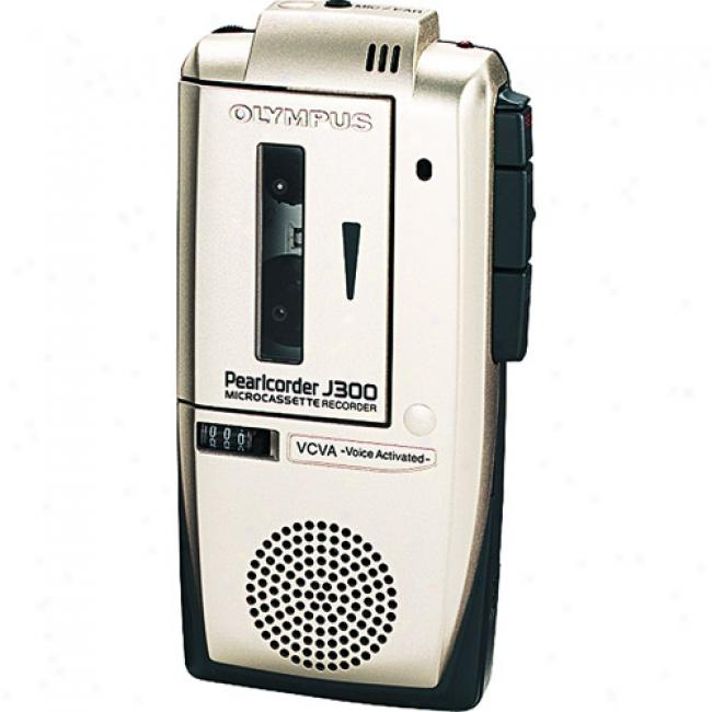 Olympus Pearlcorder Slimljne Microcassette Recorder, J300bp