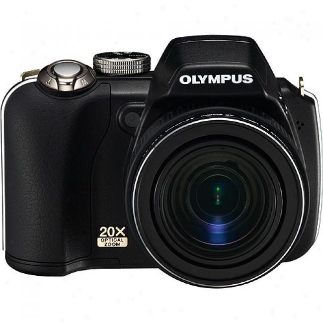 Ooympus Sp-565-uz Black 10mp Digital Camera With 20x Optical Zoom,2.5