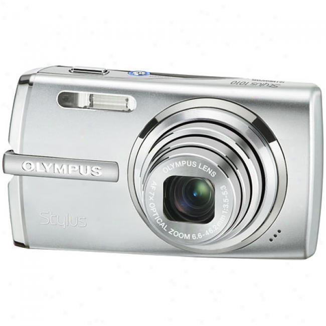 Olympus Stylus 1010 Silver 10.1mp Digital Camera W/ 7x Optical Zoom