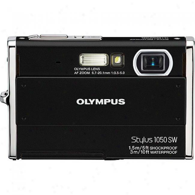 Olympus Stylus 1050sw Black 10.1mp Digital Camera, 3x Zoom, 2.7