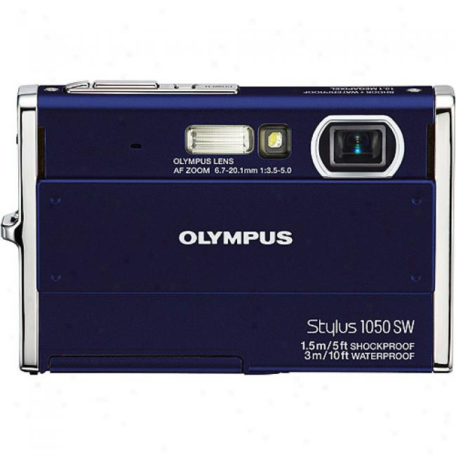 Olympus Stylus 1050sw Blue 10.1mp Digital Camera, 3x Zoom, 2.7