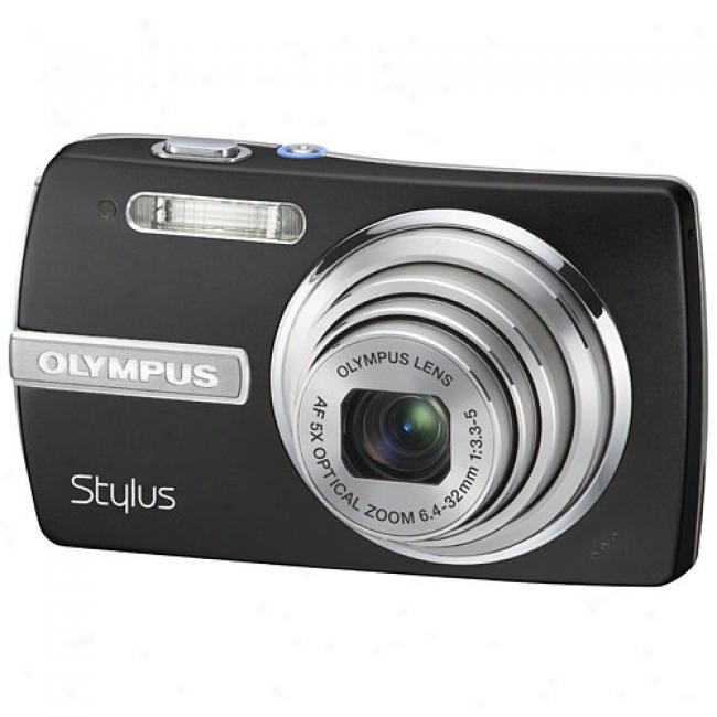 Olympus Stylus 840 Black 8.0 Mp Digital Camera With Sensir-shift Image Stabilization