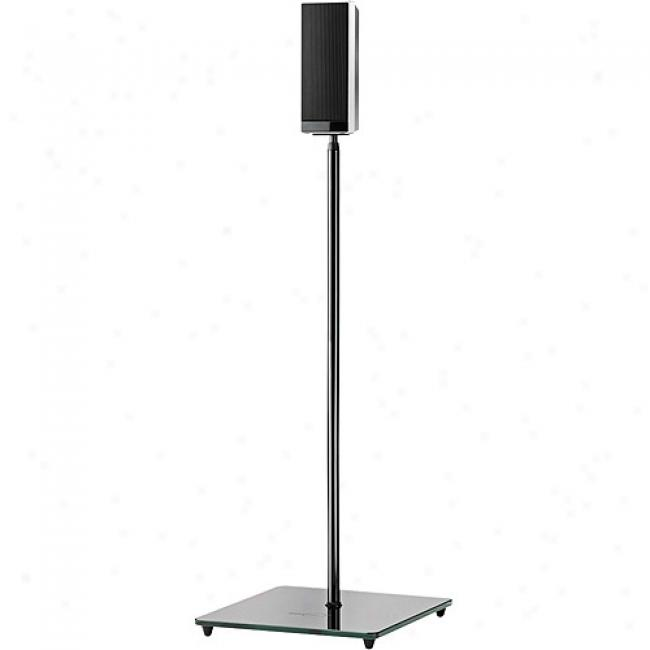 Omnimount El0 Series Small Audiophiile Speaker Stand - High Gloss Black (each)