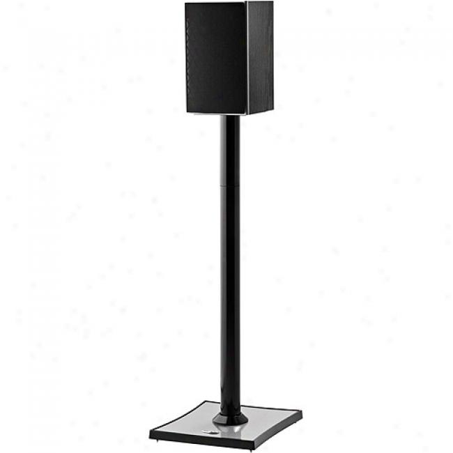 Omnimount Gemini Series Large Audiophile Speaker Stand - High-gloss Black (each)