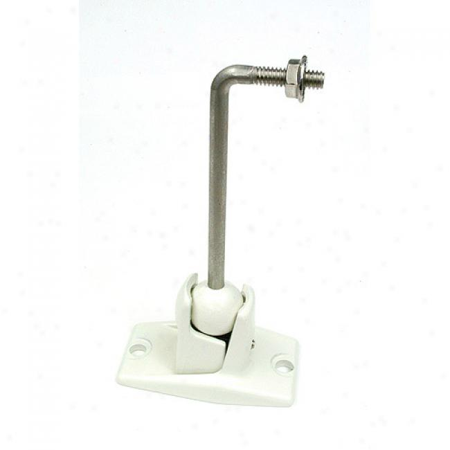Omnimount Little Stainless Steel Universal Speaker Ceiling Mounting Kit - White (each)