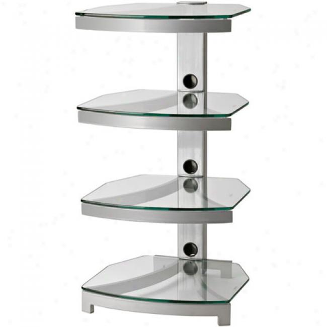 Omnimount Stellar Srries 4-shelf Audio Towef, Gray
