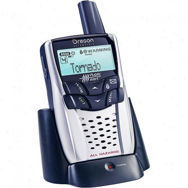 Oregpn Scientific Rechargeable Portable Emergency Weather And Public Radio