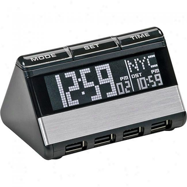 Oregon Scientific Usb Hub And World Travel Clock