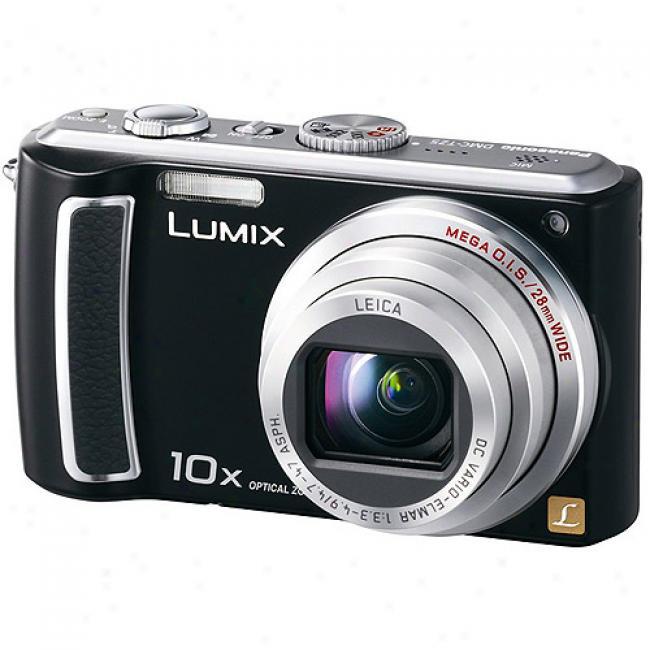 Panasonic 9mp Dmc-tz5k Black Digital Camera With 1x Optical Zoom, 3.0