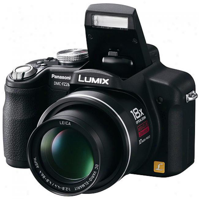 Panaqonic Dmc-fz28k 10mp Digital Camera W/ 18x Optical Zoom, 2.7