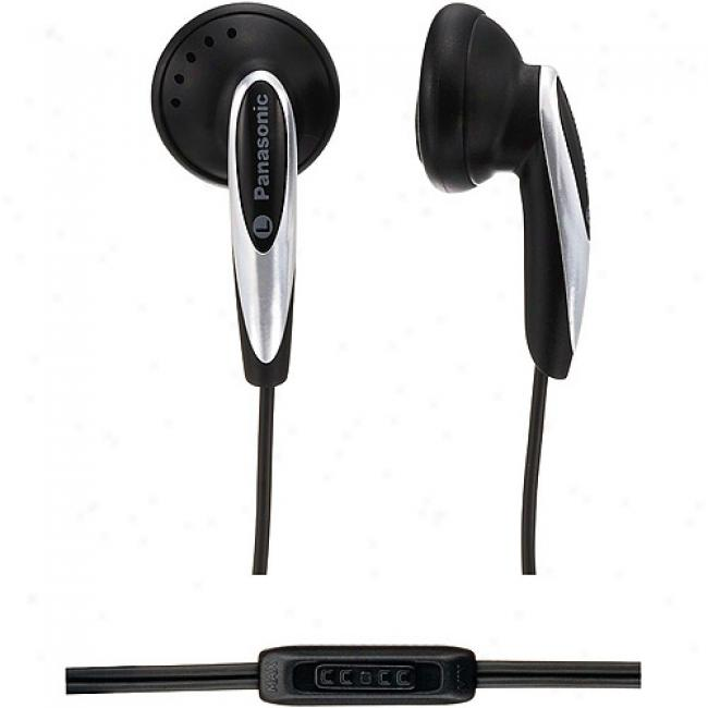 Panasonic Earbud Headphones W/ In-cord Volume Control, Rp-hv162