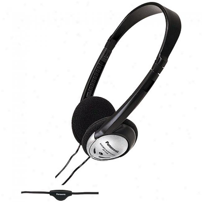 Panasonic Folding Open-air Headphones W/ In-cord Volume Control, Rp-ht46