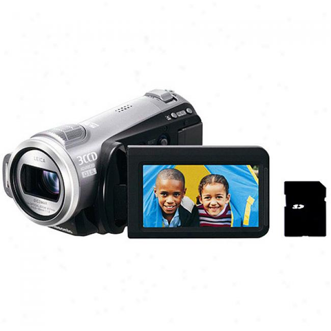 Panasonic Hdc-sd9 Flash Memory Camcorder, 1080p High Definition, 3ccd, 10x Optical Zoom, 2.7