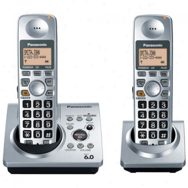 Panasonic Kx-tg1032s Cordless Phone Answering System W/ Call Waiting & Caller Id