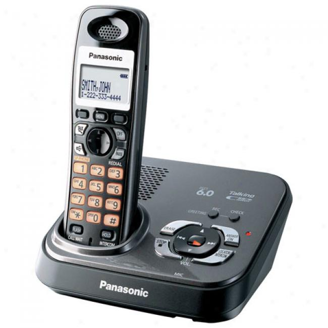 Panasonic Kx-tg9331t Dect 6.0 Digital Cordless Answering System With 1 Handset