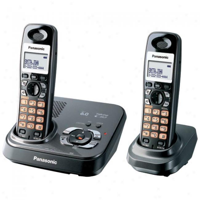 Panasonic Kx-tg9332t Dect 6.0 Digital Cordless Answering System With 2 Handsets