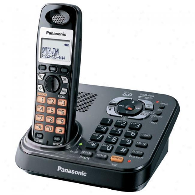 Panasonic Kx-tg9341t Dect 6.0 Digital Cordless Answering System With 1 Handset And Dual Keypads