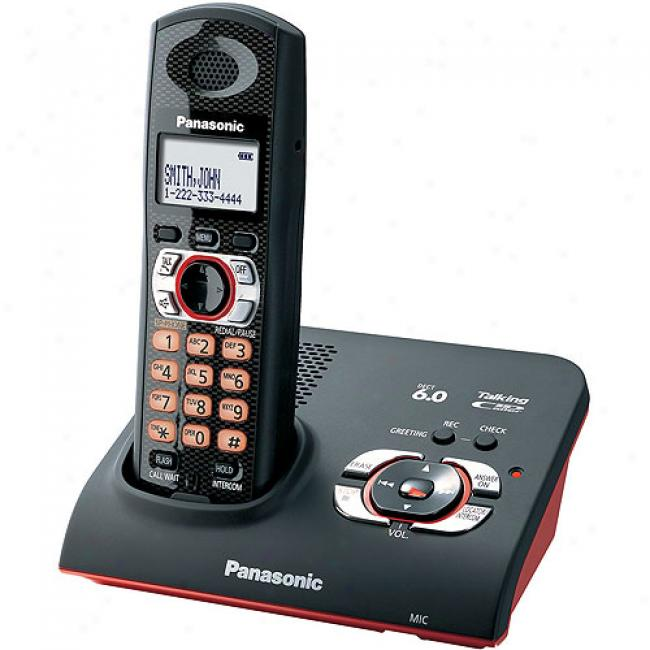 Panasonic Kx-tg9371b Dect 6.0 Drop And Splqsh Digital Cordless Answering System Attending 1 Handset
