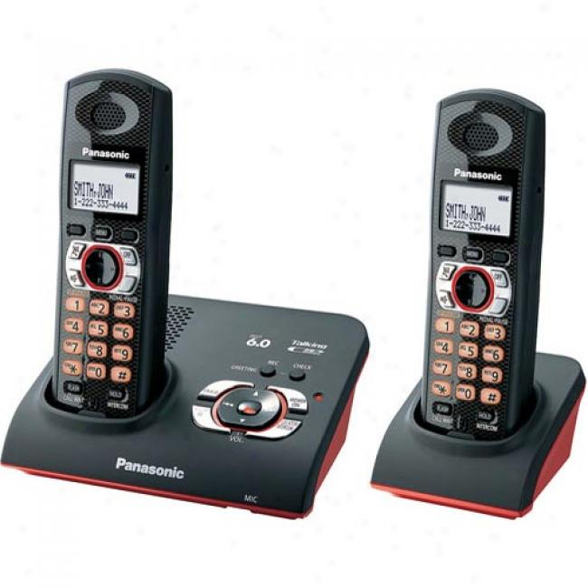 Panasonic Kx-tg9272b Dect 6.0 Drop And Splash Digital Cordless Answering System With 2 Handsets