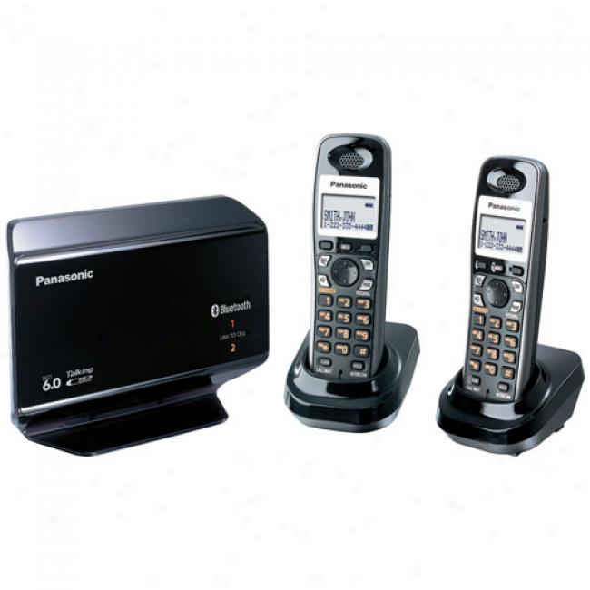 Panasonic Link To Cell Dect 6.0 Digital Cordless Answering System With 2 Handsets, Kx-th1212b