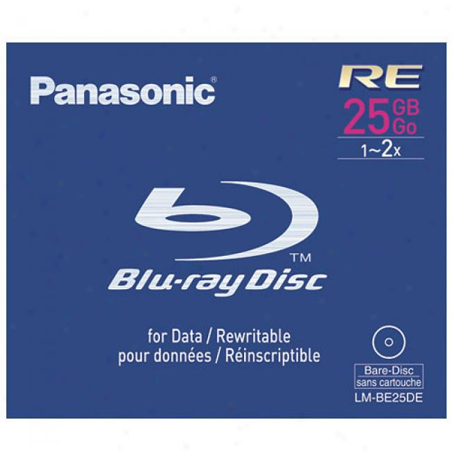 Panasonic Lm-be25de 25 Gb Rewritable Blu-ray Disc, 1x-2x