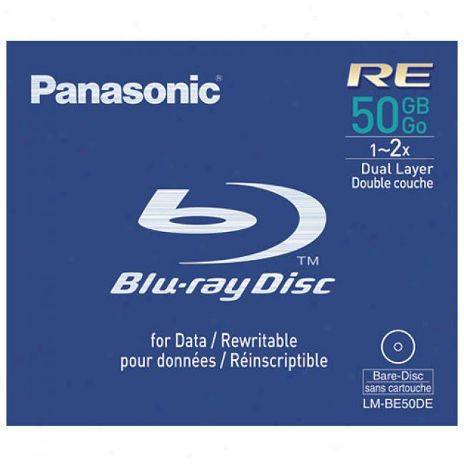 Panasonic Lm-be50de 50 Gb Rewritable Blu-ray Disc, 1x-2x
