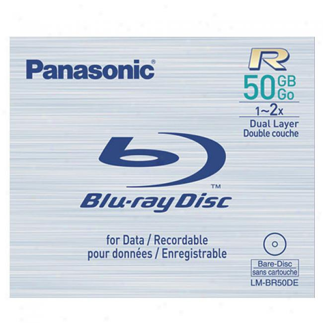 Panasonic Lm-br50de 50 Gb Rrcordable (Tell  Once) Blu-ray Disc, 1x-2x