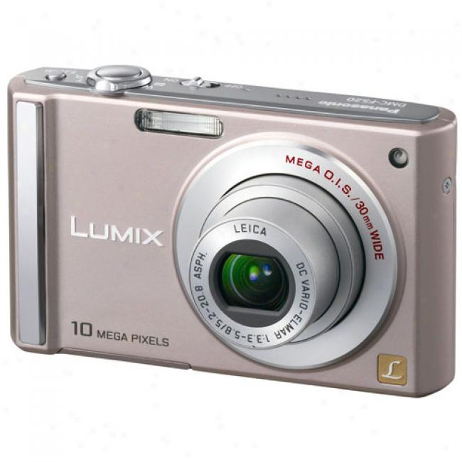 Panasonic Lumix Dmc-fs20 Pink 10 Mp Digital Camera W/ 4x Optical Zoom