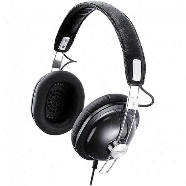 Panasonic Old School Monitor Headphones, Rp-htx7 Black