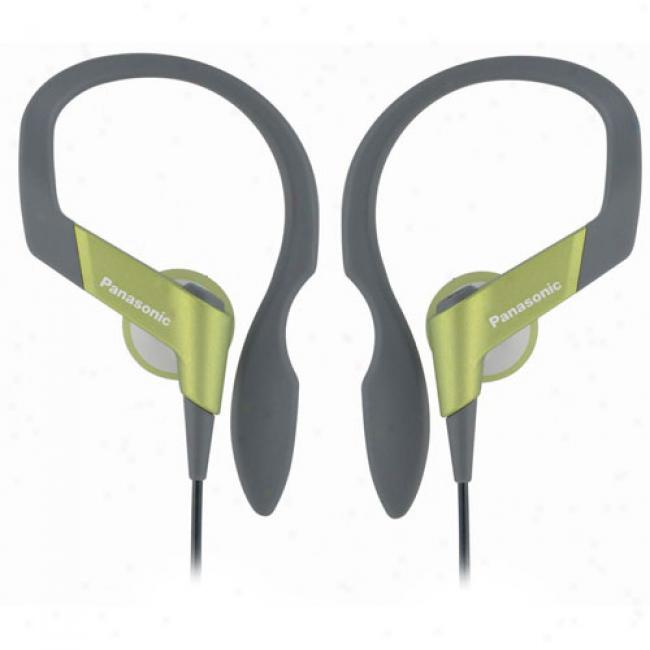 Panasonic Rp-hs33-g Shockwave Earbud Headphones, Green