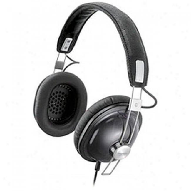 Panasonic Rp-htx7-k Retro-style Monitor Stereo Headphones, Black