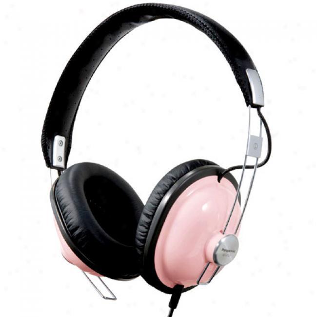 Panasonic Rp-htx7-p Old School Monitor Stereo Headphones, Pink