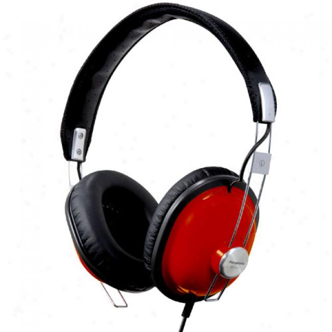 Panasonic Rp-htx7-r Ols School Monitor Stereo Headphones, Red